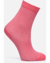 Doré Doré Socken GLITTER - Pink