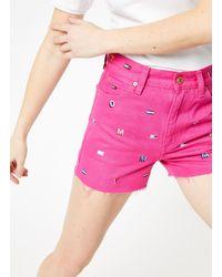 Tommy Hilfiger Denim Shorts - Roze