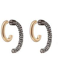 Sass & Bide Pave Luna Earring - Metallic