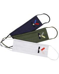 KENZO Pack Of 3 Masks - Multicolor