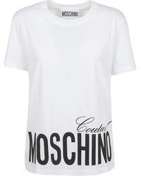 Moschino Couture! Logo Print T-shirt - White