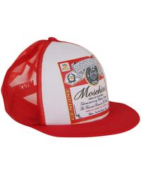 Moschino King Of Clothes Print Cap - Red