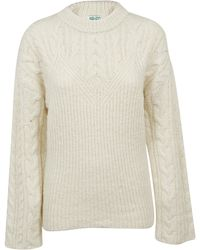 KENZO - Crew Neck Comfort Sweater - Lyst