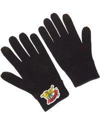 KENZO 'jumping Tiger' Wool Gloves - Black