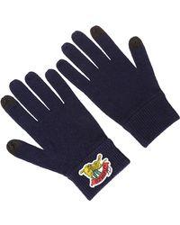 KENZO Jumping Tiger Men Gloves - Blue