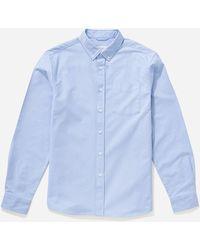 Saturdays NYC Crosby Oxford Button Down Shirt - Blue