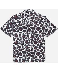 Saturdays NYC - Canty Water Floral Short Sleeve Shirt - Lyst