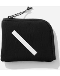 Saturdays NYC Nylon Cash Half Zip Wallet - Black