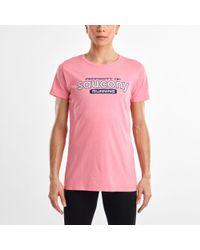 Saucony Short Sleeve Logo Tee - Pink