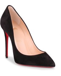 5964356af14 Lyst - Christian Louboutin Pigalle Follies Pointed Toe Pump in Blue