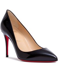4b92fc673c5 Christian Louboutin Pigalle 100 Black Leather Pump Us in Black - Lyst
