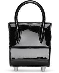 Christian Louboutin Paloma Top Handle Nano Patent Black Bag