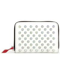 Christian Louboutin Panettone White Leather Coin Purse