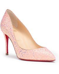 Christian Louboutin - Pigalle Follies 85 Pink Glitter Pumps - Lyst