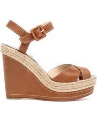 004c474325d Christian Louboutin Women's Mad Monica 120 Platform Wedge Sandals ...