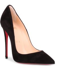 748e633d2d Lyst - Christian Louboutin So Kate Suede 120mm Red Sole Pump in Yellow