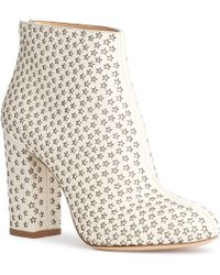 Charlotte Olympia - Alba Star White Leather Boots - Lyst