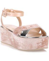 Giuseppe Zanotti - Blush Velvet Platform Sandal - Lyst