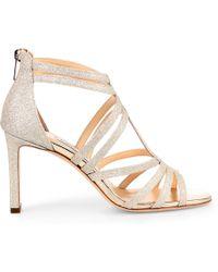 Jimmy Choo Selina 85 Dusty Glitter Sandals - Metallic