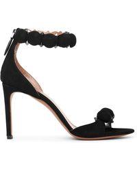Alaïa 110 Spike-embellished Suede Sandals - Black