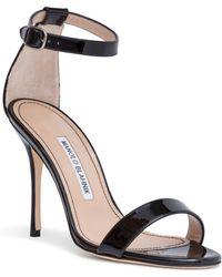 Manolo Blahnik - Chaos 105 Black Patent Leather Court Shoes - Lyst