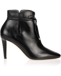 Jimmy Choo Murphy Black Leather Ankle Boot Us