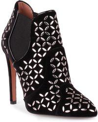 Alaïa - Black Velvet Studded Chelsea Boot - Lyst
