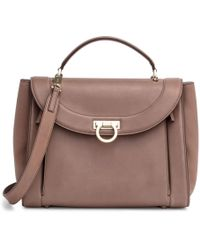 b8a22bc9351 Ferragamo - Sofia Medium Rainbow Brown Bag - Lyst