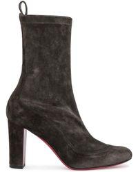 7cdd592d786 Gena 85 Khaki Stretch Suede Boots - Multicolour