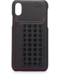 Christian Louboutin Loubiphone Kios X/xs Iphone Case - Black