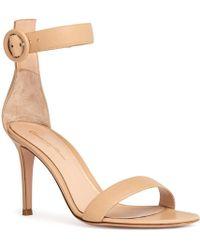 358865c4373 Lyst - Gianvito Rossi Portofino 105 Sandals In Gold in Metallic