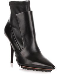 Givenchy - Black Leather Stretch Ankle Boot Us - Lyst