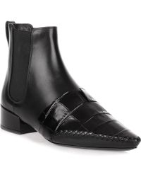 Dior - Land Black Leather Embossed Chelsea Boot - Lyst