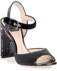 Dior | Shade Velvet And Sequin Sandal | Lyst