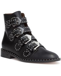 Givenchy - Elegant Flank Black Leather Boot - Lyst