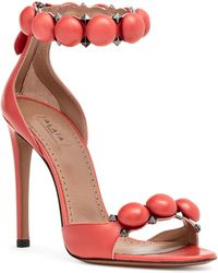 Alaïa - Light Red Bombe Sandals - Lyst