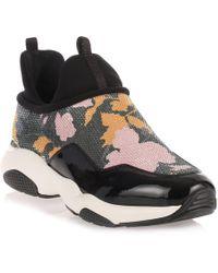 Ferragamo - Giolly Patent Haiti Black Sneaker - Lyst