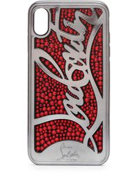 Christian Louboutin Ricky Strass Logo Xs Max Iphone Case - Red