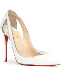Christian Louboutin - Cosmo 100 White Patent Court Shoes - Lyst