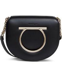 Ferragamo - Gancino Black Leather Bag - Lyst