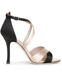 Manolo Blahnik Anna 105 Duo Satin Court Shoes - Natural