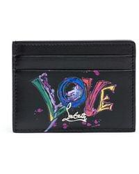 Christian Louboutin Kios Love Black Card Holder