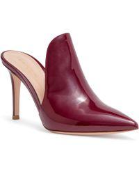 Aramis 85 Burgundy Patent Leather Mules Gianvito Rossi jR8vf