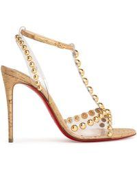 cce1be63906 Faridaravie 100 Pvc Gold Sandals - Metallic