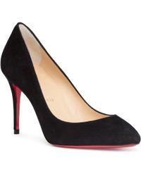 Christian Louboutin - Eloise 85 Black Suede Court Shoes - Lyst
