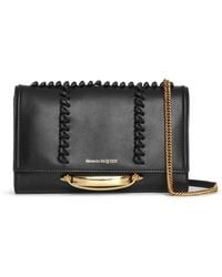 Alexander McQueen The Story Small Whipstitch Crossbody Bag - Black