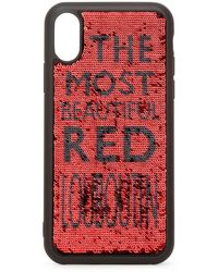Christian Louboutin Loubisequins Case Iphone X Xs - Red