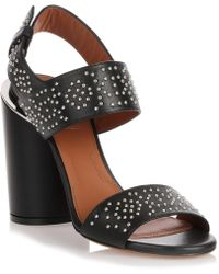 Givenchy - Black Studded Leather Sandal - Lyst