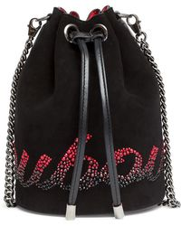 Christian Louboutin - Marie Jane Suede Bucket Bag - Lyst