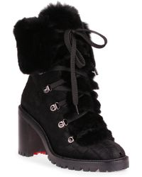 Christian Louboutin - Fanny 70 Black Pony Boot - Lyst